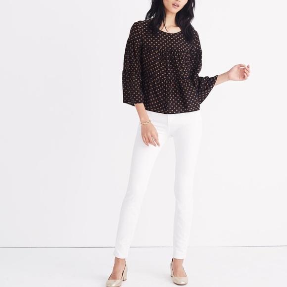 6e43519501a64e Madewell Tops - Madewell silk tiered heart print blouse